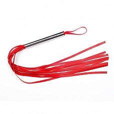 Плеть красная из латекса с хвостами в виде лент длиной 40-45 см 6021-2  Плеть средняя изготовлена из натурального латекса, имеет 10-12 хвостов длиной 40-45 см.