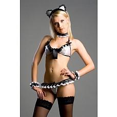"Костюм ""Sweet Kiki"" Размер 42-44 2579-42-44  В комплекте: Ободок с ушками, бархотка, топ, трусы, напульсники<br>Производитель: <b>FlirtON</b><br/>"