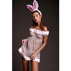 """Костюм """"Зайка Интриганка"""" Размер 46-48 2563-46-48  Нежный костюм зайчика в розовых тонах."""