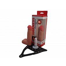Насадка Харнесс кибер-кожа 730803ru  Страпон с системой Vac-U-Lock в подарочной упаковке, с насадкой, имеет длину  17 см с максимальным диаметром  5,5 см.