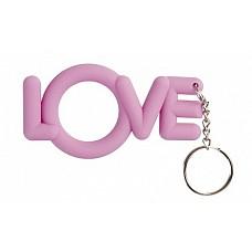 Эрекционное кольцо Love Cocking розовое  Плотская любовь станет слаще, если в процессе использовать розовое эрекционное колечко Love Cocking. <br><br> Выполненное в форме слова «love» и стилизованное под обычный брелок, оно гарантирует плотный обхват эрегированного пениса. А значит, эрекция будет максимальной, долго-долго. <br><br> Love is… Love Cocking от Shots Toys!