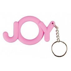Эрекционное кольцо Joy Cocking розовое  Этот розовый брелок, он же эрекционное кольцо Joy Cocking, выручит вас в моменты ослабления эрекции. <br><br> Достаточно надеть его на эрегированный пенис, чтобы эрекция надолго сохранилась в таком состоянии. <br><br> Выполненное из гибкого силикона в форме слова «JOY», колечко гарантирует – впереди только секс-восторг!
