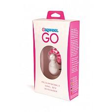 Клиторальный вибростимулятор Sqweel Go White белый  Карманный клиторальный вибратор Sqweel Go Pink  невероятно мощный.