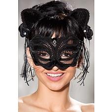 Карнавальная маска кошечки с ободком  Маска кошечка на лицо карнавальная +ободок с ушками .