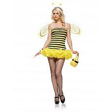 Костюм пчелки, XS, Желтый  Костюм пчелки В комплекте: платье, крылья, рожки.