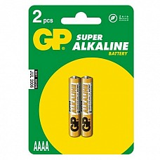 Батарейки AAA GP Ultra Super Alcaline LR03 2 шт  Мизинчиковые батарейки типа ААА GP, алкалиновые.