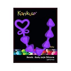 Анальная цепочка MY TOY фиолетовая  Анальная цепочка MY TOY - оригинальная анальная цепочка в виде сердечек, выполненная из 100% медицинского силикона фиолетового цвета.