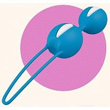 Ярко-голубые вагинальные шарики SMARTBALLS DUO  Вагинальные шарики со смещенным центром тяжести. Нежная, бархатистая поверхность делает использование более приятным и легким.