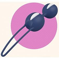 Синие вагинальные шарики SMARTBALLS DUO  Вагинальные шарики со смещенным центром тяжести. Нежная, бархатистая поверхность делает использование более приятным и легким.