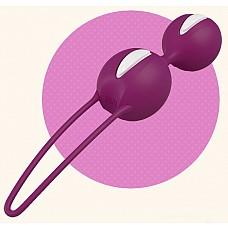 Фиолетовые вагинальные шарики SMARTBALLS DUO  Вагинальные шарики со смещенным центром тяжести. Нежная, бархатистая поверхность делает использование более приятным и легким.