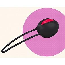 """Черный вагинальный шарик Smartballs Uno  Вагинальные шарики SMARTBALLS UNO рекомендованы гинекологами. Они укрепляют мускулатуру нижнего таза, способствуют профилактике недержания. Удобное введение шарика обеспечено благодаря выемки """"easy-in""""."""