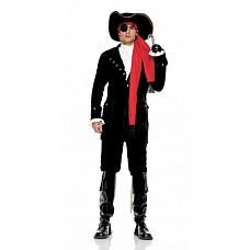 Костюм Отважный пират, XL, Черный  Мужской костюм бравого пирата.