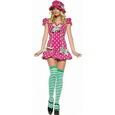 Костюм Девочка-Малинка, XS, Розовый  Очаровательная сладкая ягодка-малинка обязательно придется Вам по вкусу! Рост: 155-170 см.