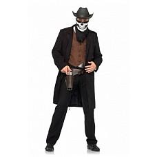 """Костюм ковбоя-мертвеца """"Reaper Cowboy"""", M/L, Черный  Хотите выглядеть оригинально на Хеллоуине? Костюм мёртвого ковбоя будет отлично смотреть на любой фигуре и создаст для вас неповторимый образ."""