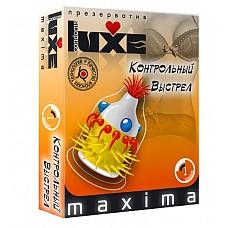 """Презерватив LUXE Maxima """"Контрольный Выстрeл""""  Презервативы проверены электроникой, прошли лабораторные испытания, зарегистрированы Министерством Здравоохранения и имеют Сертификат Соответствия ГОСТ Р."""