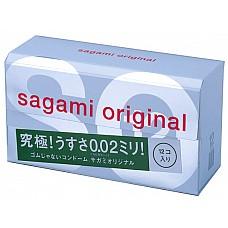 Презервативы Sagami Original 0.02 (12 шт.)  В этой коробочке прячутся не просто ультратонкие кондомы, а 12 ночей, наполненных страстью, чувственностью и сказочным удовольствием. <br><br> Презервативы толщиной всего 0,02 мм подарят вам не только защиту от ЗППП и предохранение от беременности. Но и естественные ощущения, забыть которые невозможно!