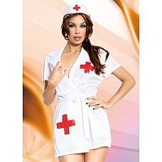 Костюм самой заботливой санитарки  Сексуальный комплект санитарки: халатик и головной убор.