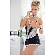 Униформа лучшей горничной: сорочка с открытой грудью и повязки  Комбинация Горничная Criada - открытая грудь, повязки