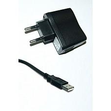Адаптер СЗУ c USB разъмом( для вибромассажеров)  TRAVEL CHARGER - СЗУ USB-адаптер соединяется с любым устройством посредством дата-кабеля.