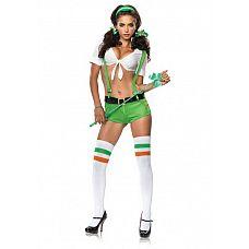Костюм Ирландская милашка, M,   Прелестная гостья из Ирландии, поприветствуйте ее! Она так хочетпонравитьсяВам и ей это несомненно удается! Рост: 155-170 см.