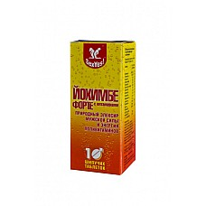 Йохимбе форте с витаминами 10таб  Растворимые таблеткидля приготовления шипу-чего витаминизированного безалкогольного напит-ка.