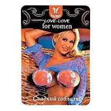 Карамель леденцовая Love-Love для женщин, блистер 2 конфеты  Леденцовая карамель для <br />женщин<br />Быстродействующий возбуждающий состав.