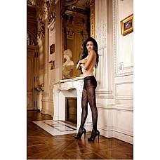Колготки Angel  Эти колготки с изящным жаккардовым узором черного цвета, которые  благодаря неповторимому дизайну позволят вам выделиться из толпы, придадут уверенности в себе и привлекут взгляды окружающих. Вы также сможете привлечь к себе внимание и дома.