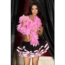 Пышная юбка Chilirose, Размер XXL, XXL  Хотите подчеркнуть игривый нрав и создать образ легкой и веtpeной девушки? Нет проблем! Многослойная юбочка с розовой отделкой атласными лентами великолепно подойдет для сочетания с другими нарядами.
