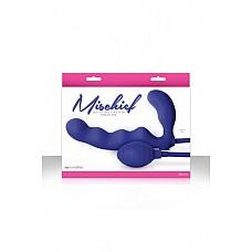 Страпон Безремневой Mischief с увеличением объема голубой  Безремневой страпон Mischief с увеличением объема голубой – качественный страпон для женщин, без ремней и креплений.