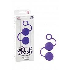 """Вагинальные  шарики Posh Silicone №O№ Balls фиолетовые  Вагинальные шарики Posh Silicone """"O"""" Balls со смещенным центром тяжести из 100% медицинского силикона. Шарики имеют удобное кольцо для извлечения из тела, мягкий рельеф в виде узора по всей поверхности шариков и идеально подходят в качестве тренажера Кегеля."""