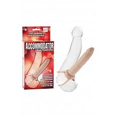 Страпон на пенис Accommodator Dual Penetrators телесный  Страпон на пенис Accommodator Dual Penetrators – страпон для двойного проникновения, копирующий половой член, двойная система поддержки, тонкий и плотный.