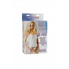 Эротическая кукла Mail Order Bride  Эротическая кукла Mail Order Bride – надувная кукла с реалистичным 3-D лицом, приятными губами длинными распущенными светлыми волосами, свадебный наряд снимается, в комплекте фата и подвязка.