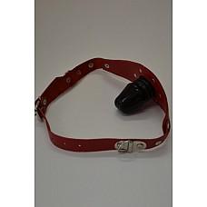 Кляп красный  Основа изготовлена из натуральной кожи.