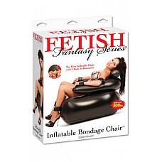 Надувное секс-кресло Fetish Fantasy  Стильное надувное кресло чёрного цвета. Кресло оснащено креплениями для запястий, лодыжек и локтей.