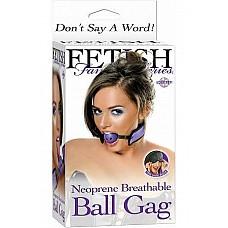 Кляп BREATHABLE BALL GAG сиреневый  Кляп BREATHABLE BALL GAG сиреневого цвета. Материал: PVC Plastic / Neoprene. Производитель: Pipedream, США.