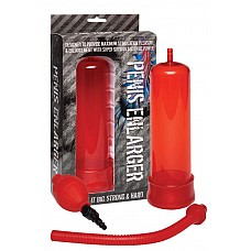 Вакуумная помпа Penis Enlarger Red  Помпа красная 19 см Penis Enlarger Red