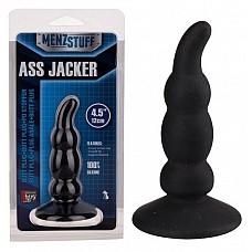 Чёрный анальный стимулятор ASS JACKER  Игрушка выполнена из 100%-го силикона, снабжена мощной присоской, имеет гладкий наконечник.