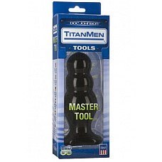 Анальный стимулятор TitanMen Master Tool # 4 черный  Анальный стимулятор TitanMen Master Tool # 4 - пробка оригинальной формы. Гладкий упругий не пористый материал идеален для анального стимулятора.