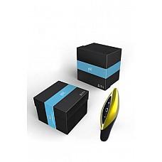 Золотой с черным вибромассажер ZINI SEED  ZINI SEED- очень компактный вибратор нового поколения для чувственных прикосновений. Шелковистый платиновый силикон позволяет стимулировать нежную эрогенную зону очень деликатно. Каждый из 10 вариантов вибрации и пульсации соответствуют определённому цвету, что позволяет установить любимый режим даже в темноте. Полностью заряженный аккумулятор рассчитан на 4 часа непрерывной работы, зарядное устройство в комплекте. Дизайнерская упаковка делает ZINI роскошным подарком.
