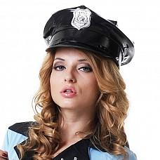 Фуражка полицейского винил  Шляпа полицейского (значки в ассортименте)