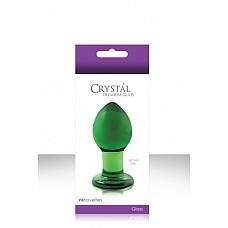 Средняя зеленая стеклянная анальная пробка CRYSTAL PLUG   Эта анальная пробка сделана вручную из боросиликатного стекла.  Высококачественная и долговечная. Идеально подходит для температурной игры.