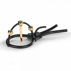 Электрическое Кольцо - Plunging Pete  Силиконовое кольцо Plunging Pete с позолоченным стержнем для уретры и двумя шариками, создаёт самую интенсивную электростимуляцию.