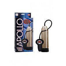 Автоматическая мужская помпа Apollo Automatic Power Pump серая  Автоматическая мужская помпа Automatic Power Pump из коллекции Apollo не нуждается в представлении.