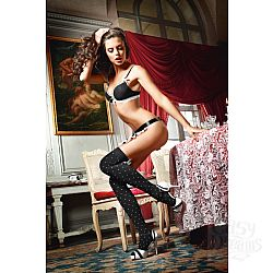 Baci Lingerie Dreams Чулки Playful French Maid высокие черные (42-46)