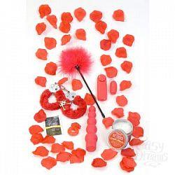 Подарочный набор секс-игрушек и аксессуаров RED ROMANCE GIFT SET