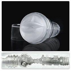 Прозрачный мастурбатор-ротик Fleshlight - Ice Mouth Crystal
