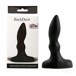 Черный анальный стимулятор Beginners p-spot massager - 11 см.