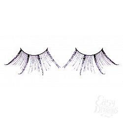 Чёрные-фиолетовые ресницы-перья