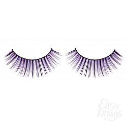 Чёрно-фиолетовые пушистые ресницы