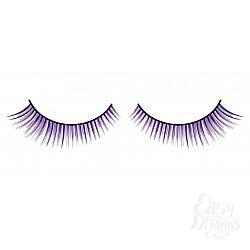 Чёрно-фиолетовые ресницы